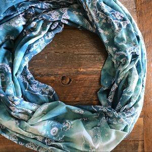 Accessories - Blue Batik Tie Dye Infinity Summer Scarf